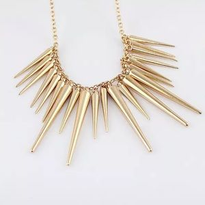 Jewelry - Gold Spike Statement Necklace